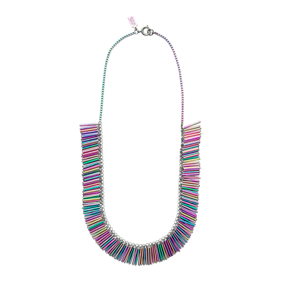 saturday confetti necklace