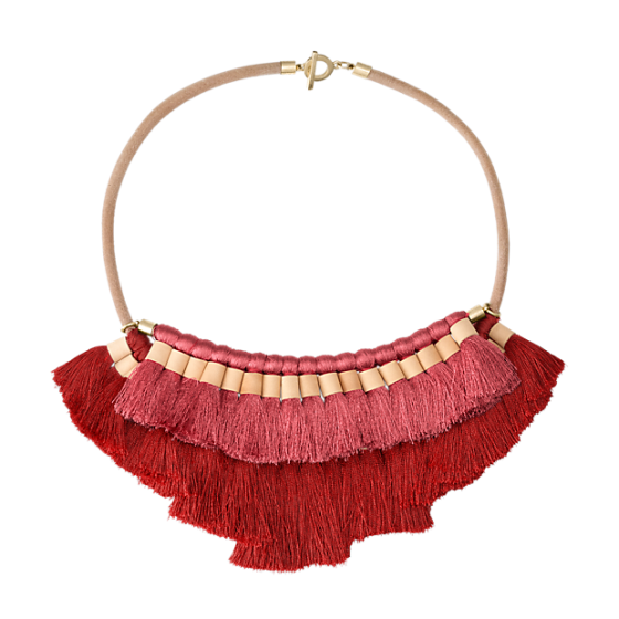 saturday fringe necklace
