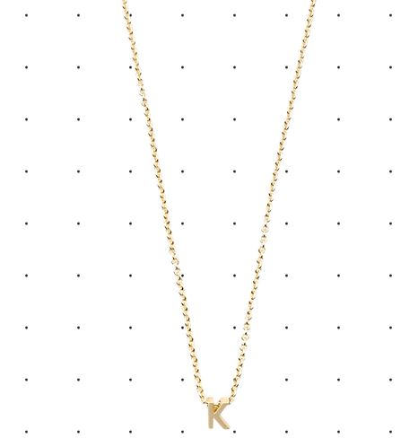 saturday initial necklace
