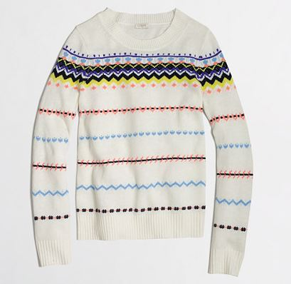 JCrew fair isle sweater